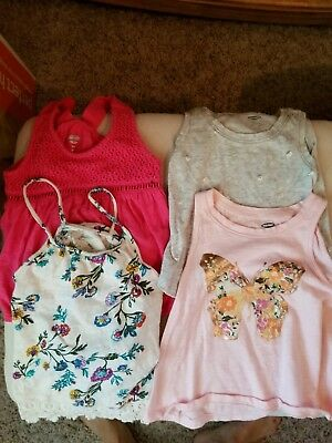 Lot of 4 Baby Toddler Girl Summer Tank tops Old Navy 18 Months