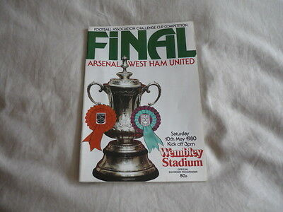 Arsenal West Ham Final 10Th May 1980