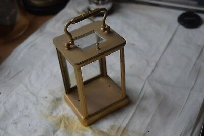 antique carriage clock  brass case