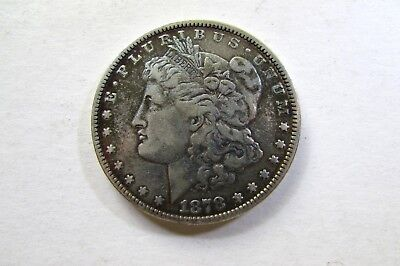 One United States 1878 7Tf  Morgan Silver Dollar  Average Circulated Condition