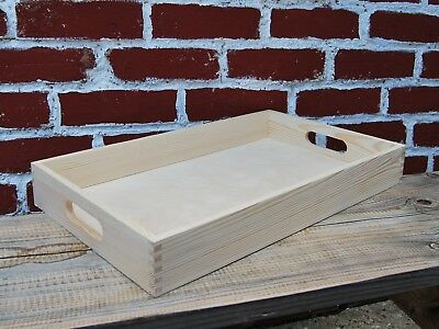 Set from 1 to 10  Wooden Serving Large Tray 50 cm x 30 cm x 6 cm
