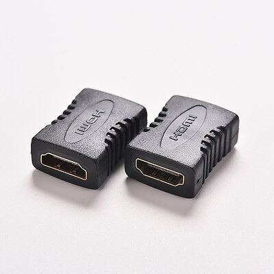 2X hdmi Female to Female Coupler Extender Adapter Connector for HDTV 1080P 5t RA