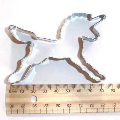 Silver Unicorn Horse Cookie Cutter Biscuit Sugercraft Cake Topper Fondant Mold