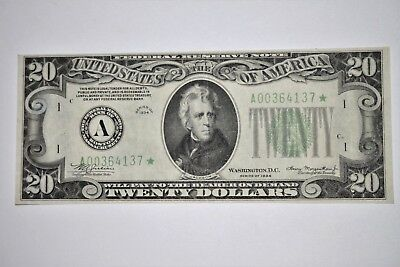 1934 $20 Federal Reserve *star*  Note (A) Boston Mule***.~Extremely Rare~5 Known