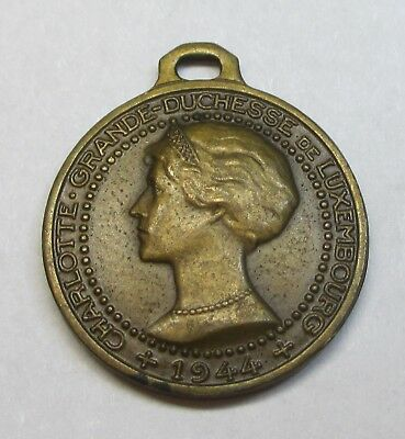 1944 Charlotte Duchess of Luxembourg Small Medal (Lot B14)