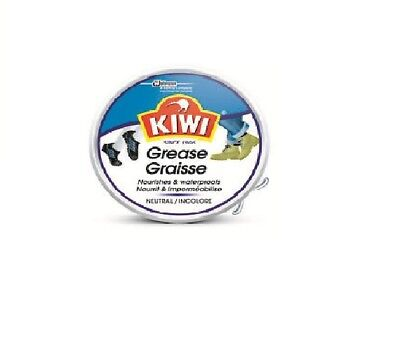 Kiwi Shoe Polish Neutral Grease Waterproofed For Shines Protects Nourishes 50 ml