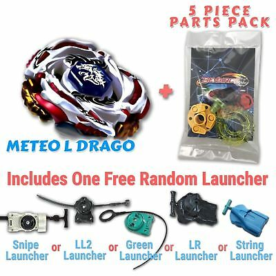 Meteo L-Drago BB-88 Beyblade w/ Free Launcher & Tips / Parts / Card Gift Pack