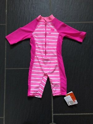 Mothercare Brand New Pink UV Sunsuit Swimsuit Swimming Costume Size 12-18 Months