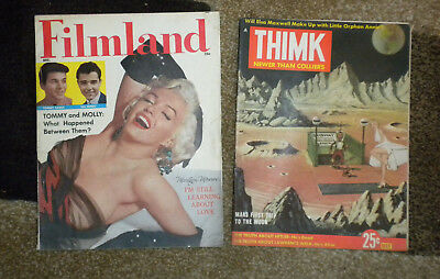 Marilyn Monroe Magazine Cover Lot - Filmland Magazine & THIMK Magazine  -