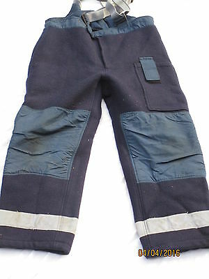 Fire Brigade Pants, British Army, Trousers crash firefighter, Size 8, Ballyclare