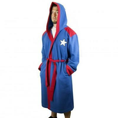 Captain America Hooded Character Robe with Belt