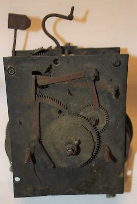 Early longcase grandfather clock movement for spares or repair