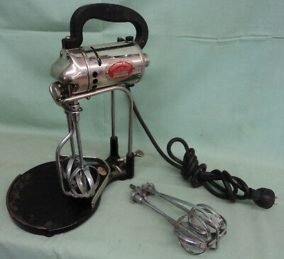 Vintage Antique Early Hamilton Beach Food Mixer Blender 3 Speed WORKS! Chrome +