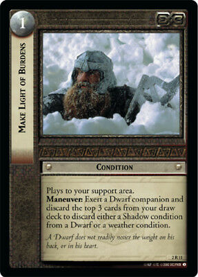 Foil LOTR: O Elbereth Gilthoniel! Mines of Moria Lord of Moderately Played