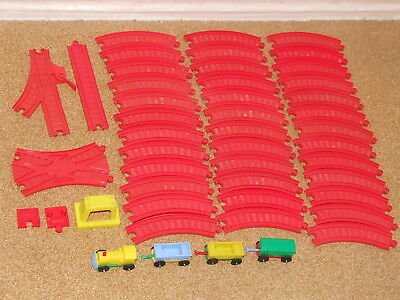 Mettoy Playcraft red plastic train set bundle - vintage 1970s