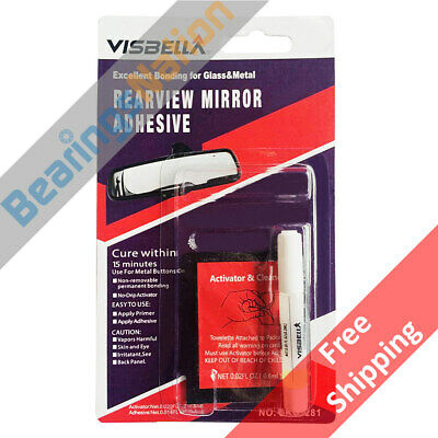 Visbella Rearview Mirror Adhesive, Excellent Bonding for Glass & Metal 1pack
