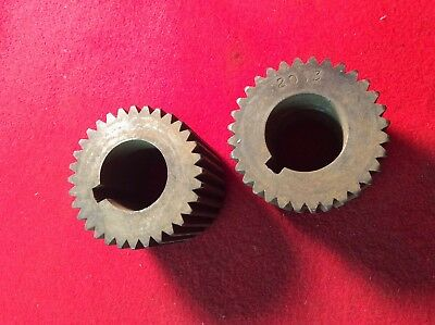 Vintage Set Of Pexto Or Niagara  Sheet Metal Crimping Rolls, Wheels - N.r.