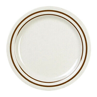 "Thunder Group AD109AA 9"" Diameter Arcadia Pattern Melamine Dinner Plate - 1 Doz"