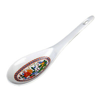 Thunder Group 7005P 1-1/2 oz Peacock Pattern Melamine Rice Ladle - 1 Doz