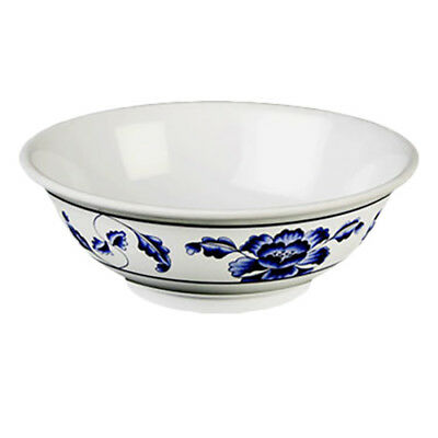 Thunder Group 5095TB 96 oz Lotus Pattern Melamine Rimless Bowl - 1 Doz