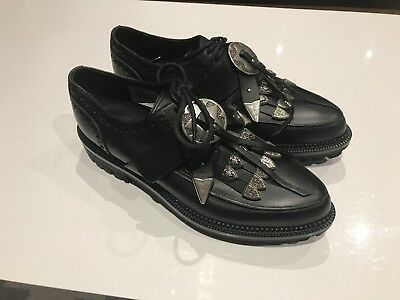 Mens DSQUARED DSQUARED2 Black Leather Shoes Buckles Size 9 UK 43 EU AW18 £650+