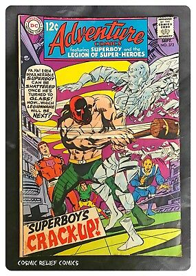 Adventure Comics; SUPERBOY and Legion DC Comics #372 Sep 1968. Superboy Crack Up