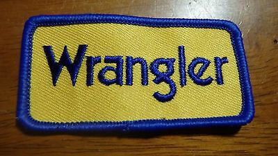 Vintage Wrangler Jeans Patch Clothing Patch Blue Jeans 3 X 1 1/2 Inches