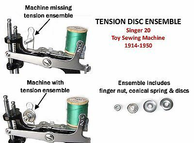 Singer 20 Toy Child's Sewing Machine Parts TENSION SPRING DISC ENSEMBLE