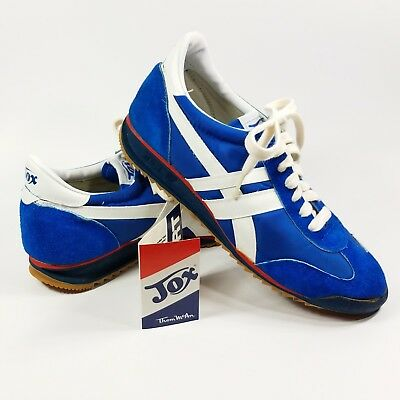 Vintage 1970s Jox Sport Shoes Sneakers by Thom McAn Blue Suede FOR DISPLAY ONLY