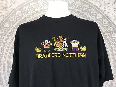 VINTAGE BRADFORD NORTHERN T SHIRT Top Jersey Kit Tee Not Bulls Black XXL Mens