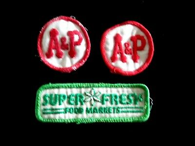 Original A&p Grocery Food Store Patches And Super Fresh Food Store Patch