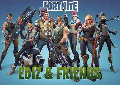 Geschenkidee - Fortnite Poster in Din A3 - DeinName & FRIENDS