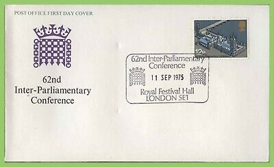 G.B. 1975 Inter Parliamentary Conference issue u/a P.O. Cover Festival Hall h/s
