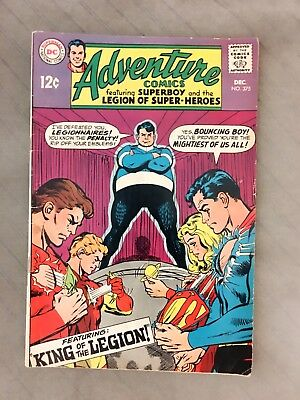 Adventure Comics; SUPERBOY and Legion DC Comics #375 December 1968. Bouncing Boy