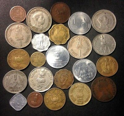 OLD India Coin Lot - 1896-Present - 24 Great Coins - Lot #524