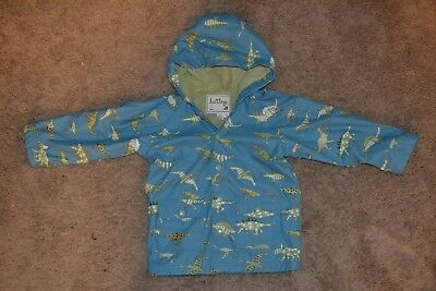 HATLEY Boys Dinosaur Blue Rain Coat/Jacket SIZE 5 GREAT CONDITION