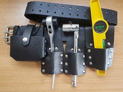 Scaffolding Black Leather Tool Belt Fulll Quality Tools 10'' /12'Ratchet Spanner