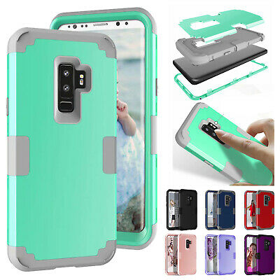 For Galaxy S10/E/S9+/S8/Note 9/8 Armor Hybrid Shockproof Rubber Hard Case Cover