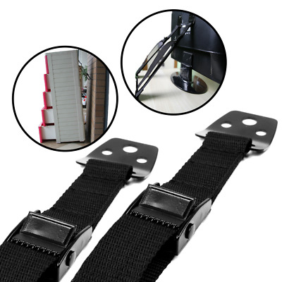 2-Pack All Metal Anti Tip Furniture & TV Straps for Baby-Proofing & Child Safety