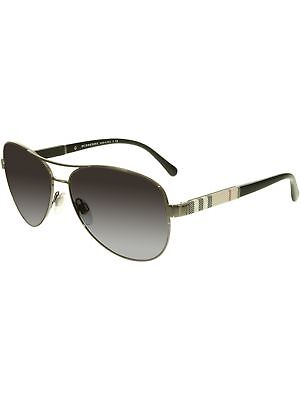 Burberry Women's Gradient BE3080-10038G-59 Gunmetal Aviator Sunglasses