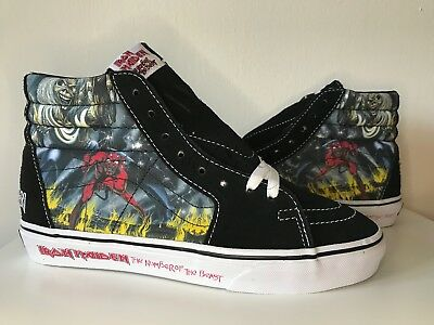 VANS IRON MAIDEN NUMBER OF THE BEAST New Classic SLIP-ON SHOES Rare ... 10ffbf689