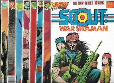 Scout War Shaman Lot Of 8 - #1 #2 #3 #4 #5 #6 #7 #8 (Vf/nm) Eclipse Comics