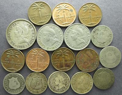 Dominican Republic older world coin lot, Gramos and Centavos, 1880's to 1950's