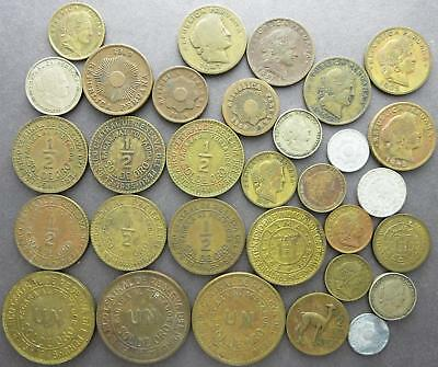 Peru mixed older world coin lot, Centavos, 1910's to 1950's