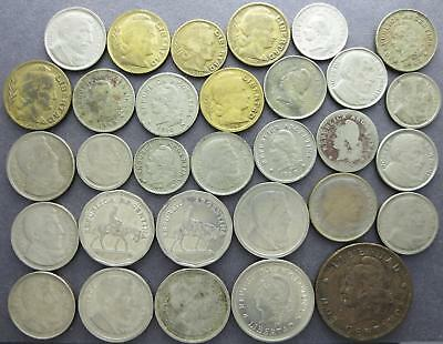 Argentina mixed older world coin lot, Centavos, 1910's to 1950's