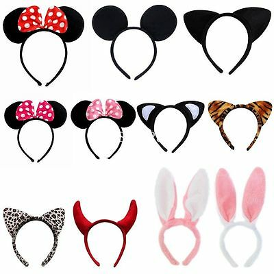 Cute Minnie Mouse Animal Ears Headband Girls Mickey Party Fancy Dress Costume AO