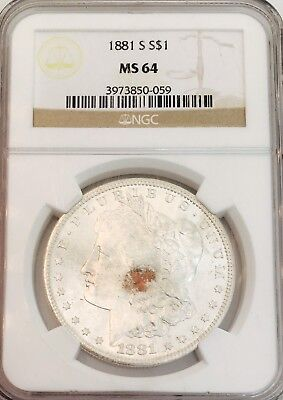 1881S Morgan Ngc Ms64! Undergraded Piece! Gorgeous Coin! Easily Looks 65 $$$
