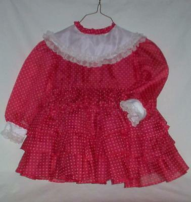 Vintage Sheer Dotted Swiss Party Dress For Little Girl Or Big Doll