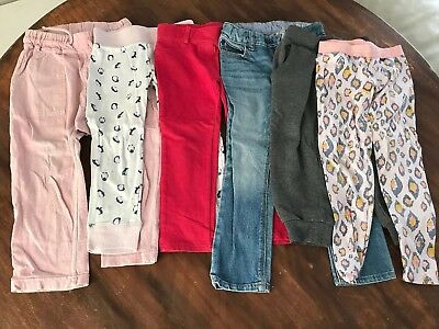 Girls Toddler Bulk Bundle Track Pants Tights Bonds Bonds Gap Target Size 3