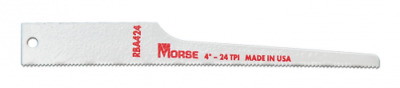 MK Morse RBA424T05 24TPI Air Saw Reciprocating Blade, 4-Inch, 5-Pack